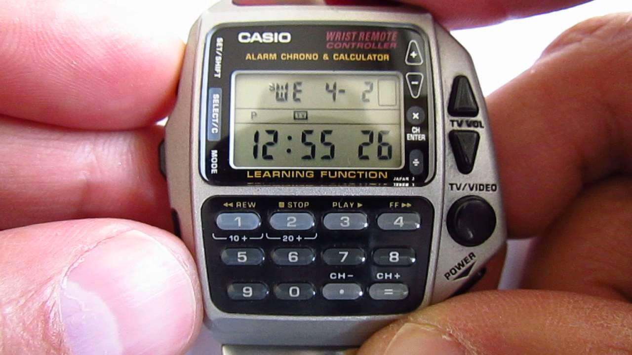 Casio wrist remote controller wristwatch CMD 40 Alarm Chrono Calculator