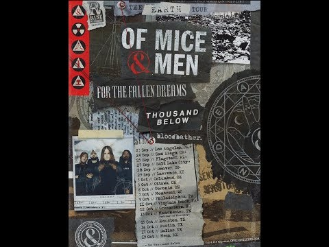 """Of Mice & Men 2019 """"The Earth Tour"""" w/ For The Fallen Dreams, Thousand Below and more!"""