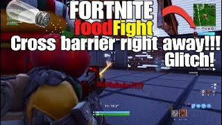 FOOD FIGHT WALL BARRIER GLITCH! FORTNITE BATTLE ROYALE!
