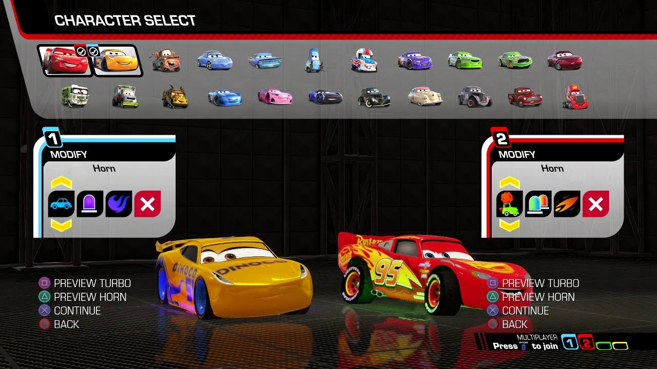 Cars 3: Driven to Win (PS4) - Multiplayer Champion Race Cup (Lightning McQueen & Cruz Ramirez)