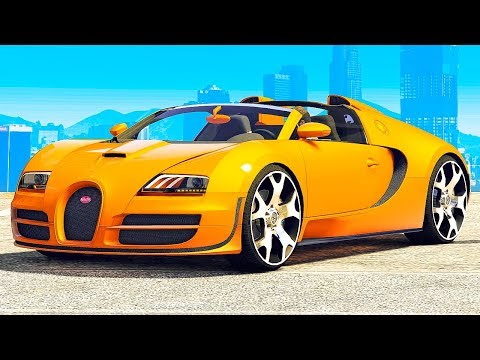 GTA 5 vs. REAL LIFE BUGATTI VEYRON SUPER CAR CHALLENGE!