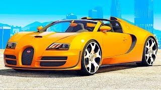 GTA 5 vs. REAL LIFE BUGATTI VEYRON SUPER CAR CHALLENGE!