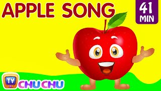 Apple Song | Learn Fruits for Kids | Original Educational Learning Songs & Nursery Rhymes | ChuChuTV