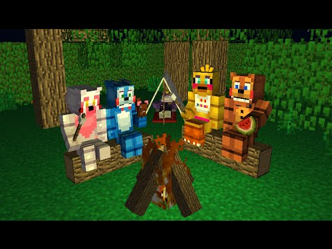 FNAF Monster School: Camping Day - Minecraft Animation