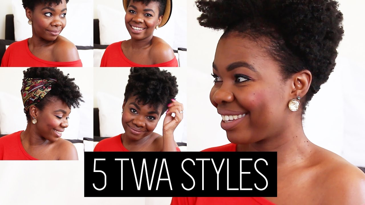 5 Styles In 5 Mins On Short 4c Hair Natural Hair Blogger Youtube