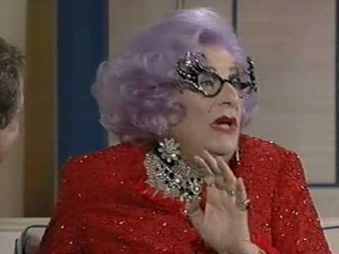 Dame Edna Everage interview (Des O'Connor, 1997)