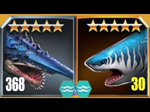 MEGALODON Vs LEVEL 415 BOSSES - Jurassic World The Game