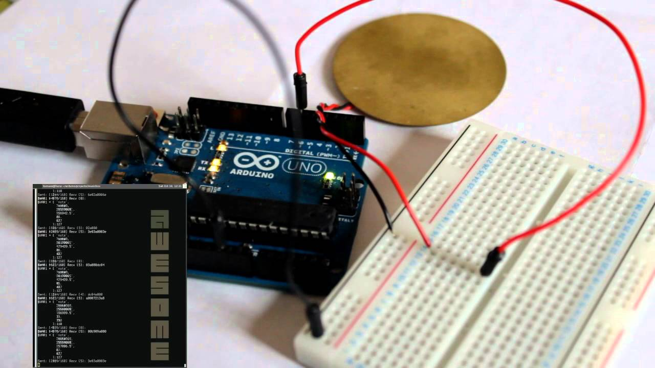 Arduino playing midi metallica master of puppets youtube