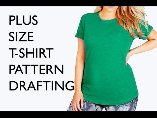 Plus size T pattern / Pattern drafting tutorial - YouTube