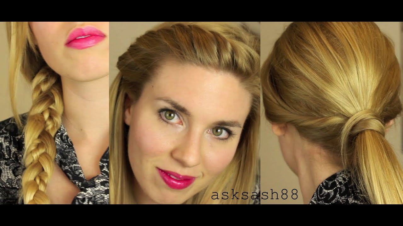 5 easy quick everyday hairstyles