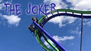 The Joker roller coaster at Six Flags Great America Amusement Park