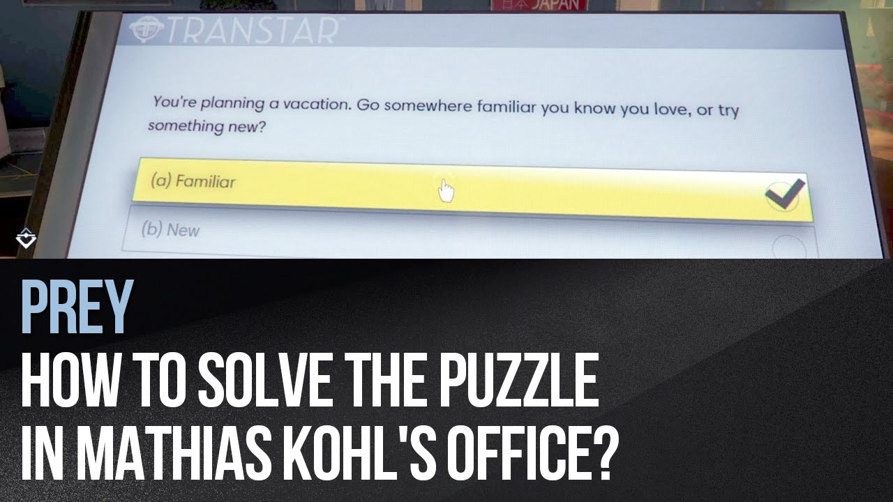 Prey how to solve the puzzle in mathias kohl s office youtube