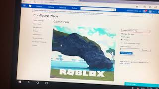 How to make a picture for your game on roblox