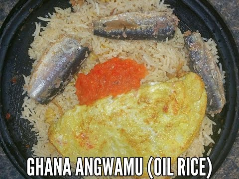 "HOW I MAKE GHANA ""Angwamu"" (Oil Rice)"