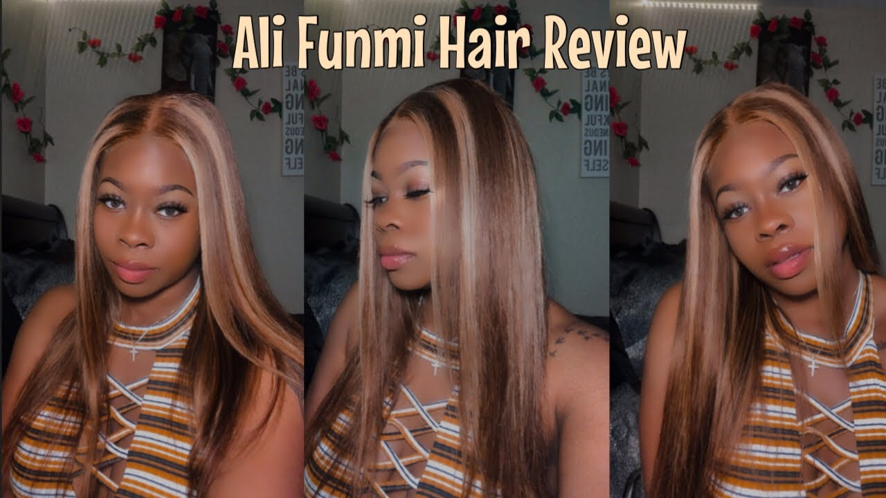 Download BOMB HIGHLIGHTED WIG FROM AMAZON|ALI FUNMI HAIR REVIEW + HOW I CUSTOMIZE AND INSTALL MY WIGS!