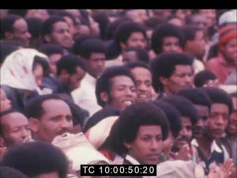 Colonel Gaddafi of Libya arrives in Addis Ababa,  1981