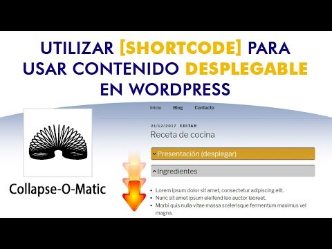 Instalar Shortcode Para Configurar Contenido Desplegable En WordPress