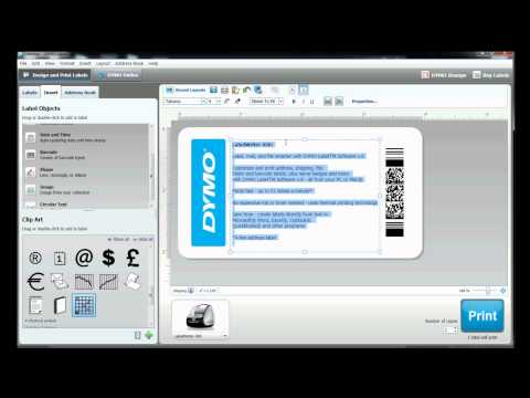 How to build your own label template in DYMO Label Software?
