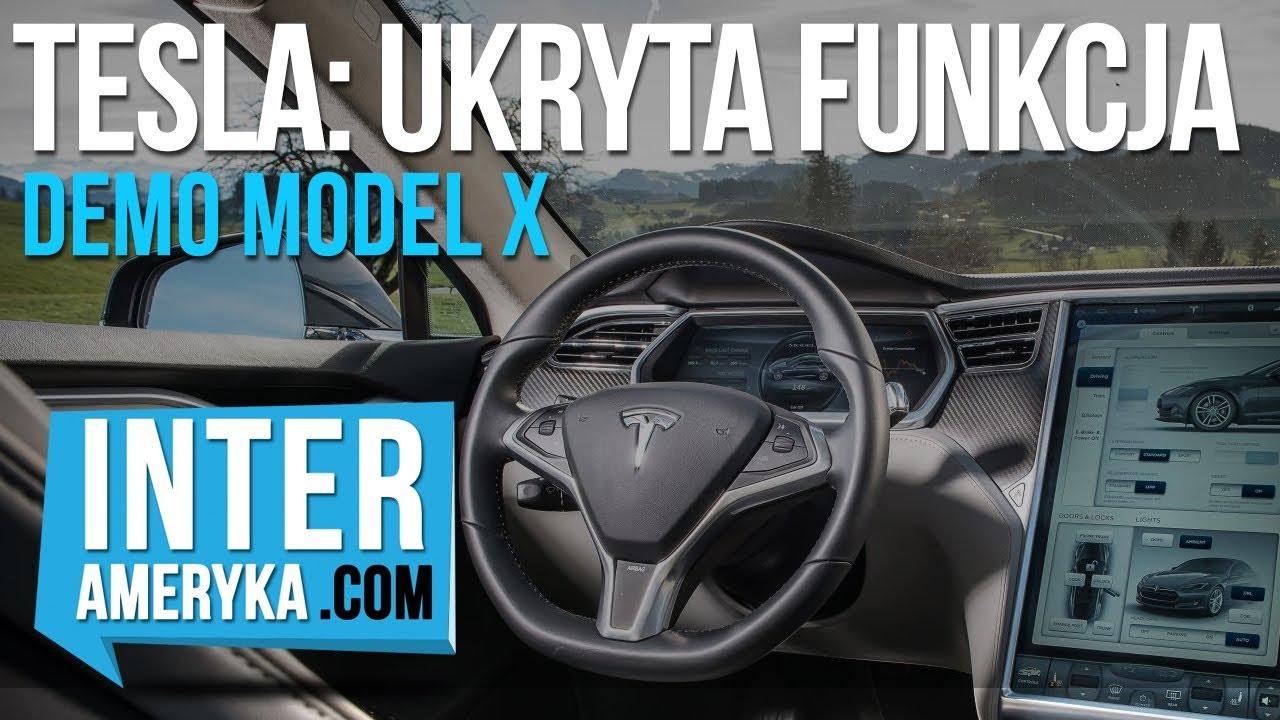 TESLA MODEL X – Ukryta Funkcja: Demo Samochodu: