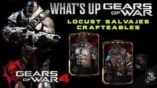 """Gears of War 4 l WHAT´S UP Gameplay l """" Locust Salvaje """" Crafteables OMG + skins l 1080p Hd"""