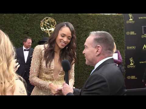 Sal Stowers Interview - Days of our Lives - 45th Annual Daytime Emmys Red Carpet