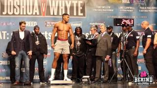 Whyte turns his back on Joshua - Joshua vs Whyte weigh in HIGHLIGHTS