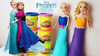 massinha play doh frozen uma aventura congelante com princesas disney anna e elsa frozen