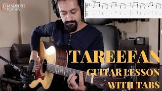 Tareefan Reprise  - Guitar Lesson with TABS - Chandresh Kudwa