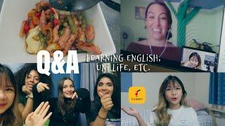 VLOG / Q&A : cách học tiếng anh, cuộc sống đại học, kết bạn thế nào? | Sarah Tran