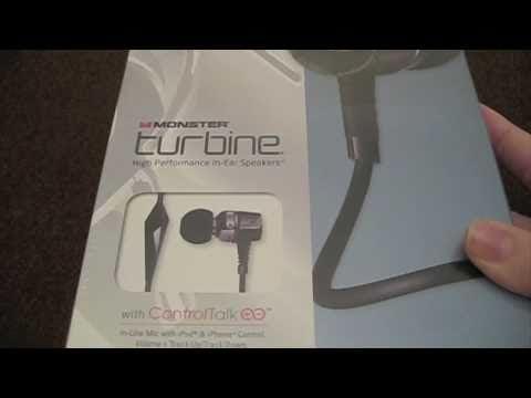 Monster Turbine in-ear Headphones / Speakers Unboxing