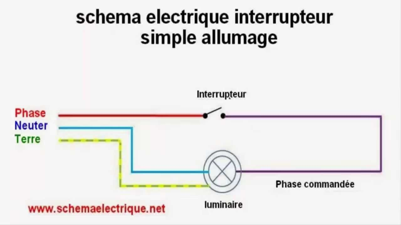 simple allumage schema branchement cablage youtube