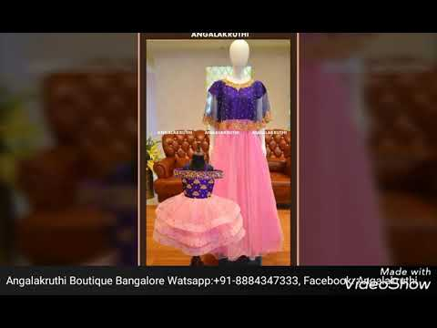 049717ac34f Mother and Daughter matching dress designs by Angalakruthi boutique ...