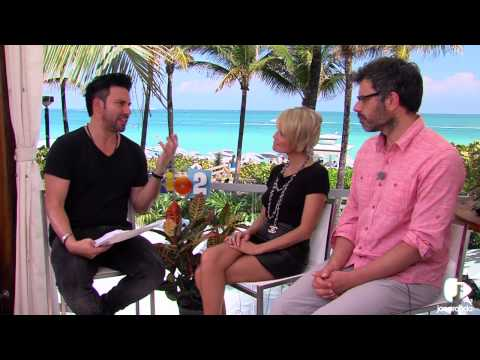 Martin Bester with Kristin Chenowith & Jemaine Clement