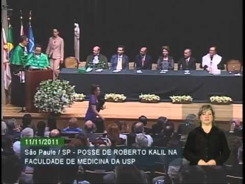 Dilma participa da posse do Drª Roberto Kalli  na faculdade de medicina da USP