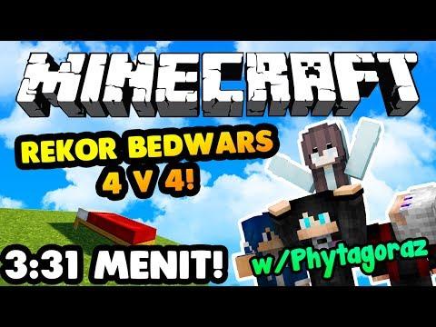 MENANG BEDWARS KURANG DARI 4 MENIT??-Minecraft Bedwars w/Team Phytagoraz