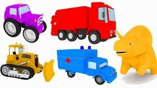 Repeat youtube video 트럭과 공룡 디노와 함께 색깔에 대해 배워보아요