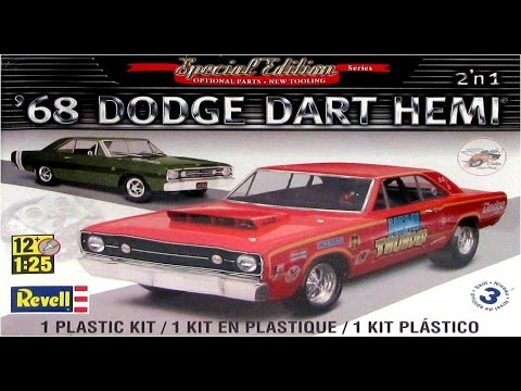 How to Build the 1968 Dodge Dart Hemi 1:25 Scale Revell Model Kit #85-4217 Review
