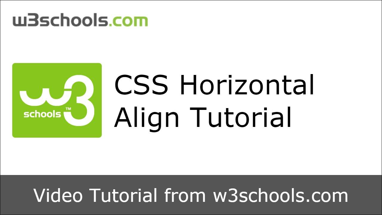W3Schools CSS Horizont...W3schools Css