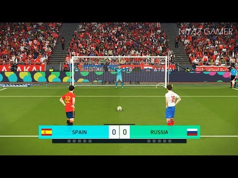 SPAIN vs RUSSIA | Penalty Shootout | PES 2018 Gameplay PC