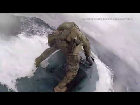 Sherri Marengo - Coast Guardsmen jump ON submarine loaded with drugs!