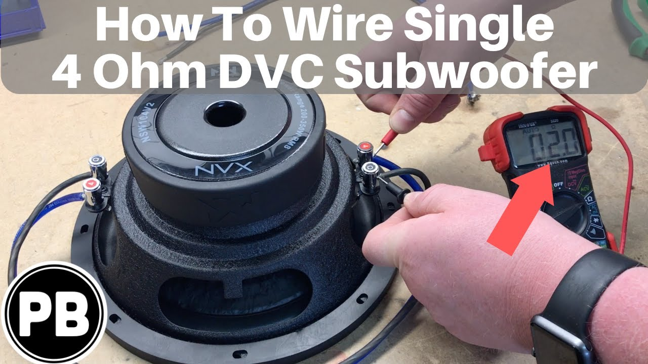 How To Wire DVC 4 Ohm Subwoofer - YouTubeYouTube