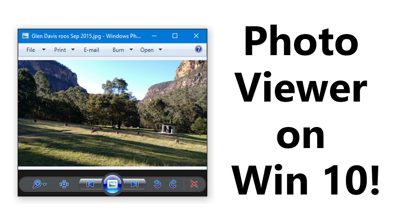 How to bring back Windows 7 Photo Viewer in Windows 10 ...