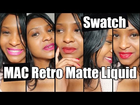 MAC RETRO MATTE LIQUID LIPSTICKS | SWATCHES + REVUE