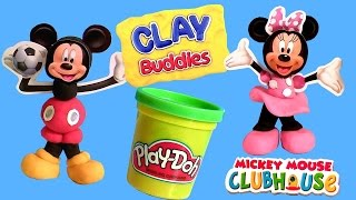 ClayBuddies Mickey Mouse Clubhouse with Minnie Mouse Play-Doh Surprise Eggs Huevos Sorpresa