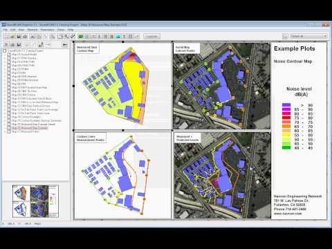 SoundPLAN Cartography Module Mapping Tutorial