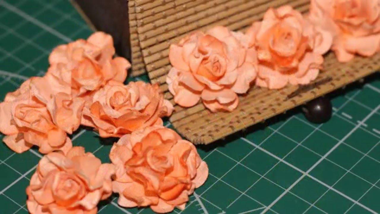 Как сделать цветок из бумаги скрапбукинг
