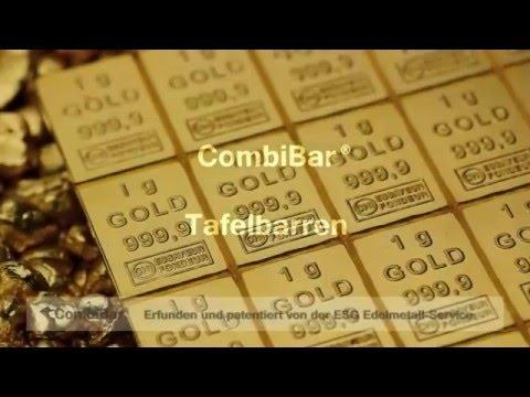 CombiBars®, Tafelbarren aus Gold in den Stückelungen von 5g bis 100g