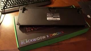 Обзор новой игровой клавиатуры Razer Blackwidow X Chroma 2016