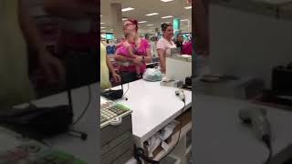 Women in sears throwing a fit over a refund