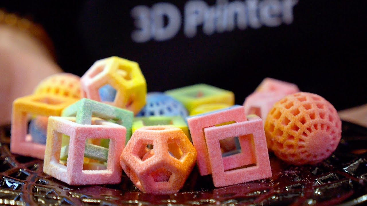 This is what 3D-Printed Food looks like! - YouTube